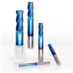 Оригинал              Drillpro 4 мм-12 мм Синий Nano Покрытие Черновая концевая фреза 4 Флейта Спираль Концевая фреза с твердосплавным покрытием Фрезерный станок с ЧПУ К