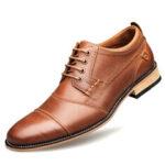 Оригинал              Мужские швы Comfy Non Slip Lace Up Бизнес повседневная обувь