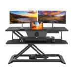 Оригинал              BlitzWolf® BW-ESD3 Электрический подъемный стол с USB-зарядной станцией с электроприводом Регулируемая высота Двухуровневый Дизайн Кабельное сиде