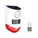 Оригинал              KCASA – CT80 Солнечная Лампа Сигнальная лампа Водонепроницаемы LED Беспроводная сигнализация Предупреждение о краже животных Предохранительно