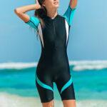Оригинал              Женский модный гидрокостюм Nylon Zip Shorty Купальный костюм женский эластичный женский костюм для дайвинга купальник для серфинга Комбинезон