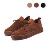 Оригинал              Мужские модные повседневные кроссовки на плоской подошве для прогулок с низким верхом на шнуровке