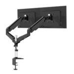 """Оригинал              BlitzWolf® BW-MS4 Двойная подставка Монитор с двумя пневматическими кронштейнами 32 """"Монитор Подставка Поворот на 360 °, наклон -85 ° ~ + 90 °, поворот на"""