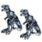 Оригинал              1 пара Cool Tyrannosaurus Rex Unisex Punk Dinosaur Stud Серьги для мужчин и Женское