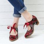 Оригинал              SOCOFY Super Comfy Bloom Rose повседневные кожаные туфли на шнуровке со шнуровкой Платье для Женское