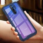 Оригинал              Bakeey для Xiaomi Redmi 9 Чехол Четырехугольные Armor Бамперы Противоударные Прозрачные Soft Силиконовый Защитные Чехол