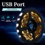 Оригинал              0,5м / 1м / 2м / 3м USB LED Лампа 2835 SMD Light Bar Гостиничный телевизор Подсветка шнура света Водонепроницаемы