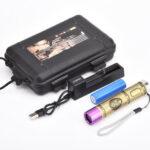 Оригинал              15 Вт, 365 нм, UV, черный световой детектор фонарика, Blacklight для Домашние животные пятен мочи, постельного клопа с 18650 Батарея и Charer
