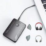 Оригинал              JOYROOM Bluetooth 5.0 Адаптер Аудио Передатчик Приемник Пара с двумя Наушники 3,5 мм AUX RCA Беспроводной адаптер для ТВ ПК Авто Динамик