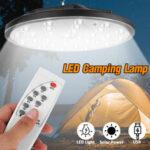 Оригинал              LED Солнечная Кемпинг Tent Light Сад Подвесной прожектор На открытом воздухе Лампа С Дистанционное Управление