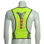 Оригинал              BIKIGHT Elastic LED Велоспорт Жилет Регулируемая видимость Светоотражающий жилет Ночной спорт Светоотражающий Ремень Для безопасного катания Для