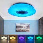 Оригинал              36 / 40см 120Вт музыкальный потолочный светильник с динамиком Bluetooth Smart APP и Дистанционное Управление