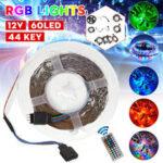 Оригинал              1M / 3M / 5M / 10M / 20M 3528SMD RGB LED Полосатый светильник Водонепроницаемая подсветка телевизора Лампа DC12V + 44 Клавиши Дистанционное Управление