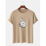 Оригинал              Повседневная футболка с коротким рукавом из 100% хлопка с принтом в виде космонавта
