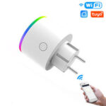 Оригинал              MoesHouse Wi-Fi Smart Plug Wireless RGB Power Разъем Приложение Smart Life / Tuya Wireless Дистанционное Управление Работа с Alexa Google Home