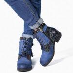 Оригинал              SOCOFY Зимняя теплая подкладка на шнуровке на молнии с круглым носком и пяткой Ботинки