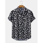 Оригинал              Повседневные рубашки с короткими рукавами и карманом Mens Daisy Hearts