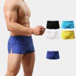 Оригинал              Пляжные шорты Мужские летние шорты Брюки Твердые дышащие быстросохнущие шорты для плавания Серфинговые шорты