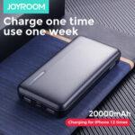 Оригинал              JOYROOM Power Bank 20000mAh LED Дисплей 2 Блок питания USB с входом Mico USB Type-C Быстрая зарядка для iPhone XS 11Pro Huawei P30 P40 Pro Xiaomi Mi10 Oneplus 8Pro