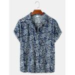 Оригинал              Рубашки мужские из хлопка с абстрактным принтом
