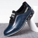 Оригинал              Menico Мужчины Удобная нескользящая деловая деловая повседневная кожаная обувь для вождения