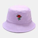 Оригинал              Женская Лето UV Защита Цветочные Шаблон Вышивка Повседневная Cute Sun Шапка Ведро Шапка