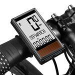 Оригинал              WEST BIKING Wireless Солнечная Велокомпьютер 5 языков Водонепроницаемы Подсветка LCD Дисплей Спидометр одометра для дорожного велосипеда-скутера MTB