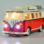 Оригинал              DIY Светодиодный Освещение Набор для Lego 10220 Volkswagens T1 Campers Van Bricks YH