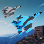 Оригинал              Zhiyang MIG-320 290 мм размах крыльев 2,4 ГГц EPP Mini RC Glider Самолет Warbird Самолет RTF Встроенный гироскоп