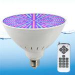 Оригинал              AC12V / 120V E27 25 Вт 252LED RGB Подводное плавание Бассейн Светлый Изменение цвета Лампа PAR38 + 18 Ключ Дистанционное Управление