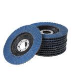 Оригинал              10шт 4.5 дюймов 40-120 зернистость шлифовальные диски лоскут матовый синий песок 115 Тип полировальный круг жалюзи