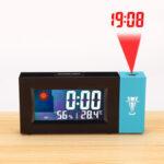 Оригинал              Светодиодная цифровая проекционная сигнализация Часы Погода Термометр Календарь с подсветкой повтора
