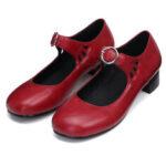 Оригинал              Женские кожаные Сандалии Комфортные нескользящие повседневные мокасины на среднем каблуке с квадратным носком, пешие прогулки Кемпинг, д