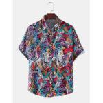 Оригинал              Мужские рубашки с коротким рукавом с принтом Colorful