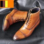 Оригинал              Мужские резные удобные противоскользящие повседневные броги Формальные лодыжки Ботинки
