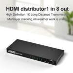 Оригинал              Bakeey HDMI HD Аудио Видео Адаптер Splitter 1080P HD Адаптер с 8 * HDMI-выходом / 1 * HDMI-входом для Nootebook DVD-плеер ТВ