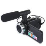 Оригинал              DC888 24MP HD Видеокамера с 18-кратным цифровым зумом Видео камера для Youtube Live Vlog Night Vision 3 дюймов LCD Сенсорный экран камера с Микрофон
