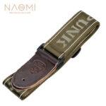 Оригинал              NAOMI Guitar Strap Гитарные аксессуары Регулируемый наплечный ремень Детали музыкальных инструментов Темно-зеленый