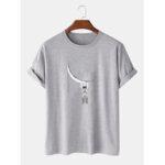 Оригинал              Забавный мультяшный принт-космонавт с коротким рукавом и дизайнером футболки из 100% хлопка