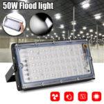 Оригинал              50 Вт LED Прожектор Холодный Белый На открытом воздухе Прожектор Сад Двор Лампа IP66 AC220-240V