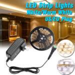 Оригинал              16.4FT 5M 24W 3528 SMD Водонепроницаемы LED Полоска светло-белая / теплая белая с регулируемой яркостью лента Лампа для домашней кухни