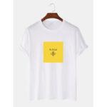 Оригинал              Мужская футболка из 100% хлопка с круглым вырезом Шея Повседневные футболки с коротким рукавом