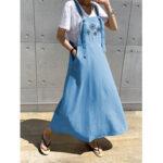 Оригинал              Женский цветочный принт Daily Casual Maxi Платье с карманами