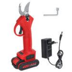 Оригинал              30мм 48В электрический Сад Ножницы секатор Аккумуляторные ножницы для обрезки веток с 1 или 2 литий-ионными Батарея