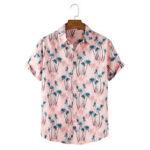 Оригинал              Мужские рубашки с короткими рукавами Кокос Tree Print Tropical Holiday