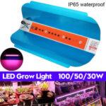 Оригинал              30 Вт 50 Вт 100 Вт Полный Спектр УДАРА LED Растение Grow Light Growing Лампа Гидропонный Овощной Цветок AC220V