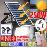 Оригинал              250W Солнечная Light LED Уличный прожектор Сад Прожектор Дистанционное Управление