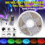 Оригинал              Водонепроницаемый USB 5050 RGB LED Полоса света Изменение цвета ленты Гибкая кухня Лампа DC5V + 44 Ключи Дистанционное Управление