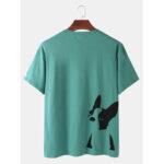 Оригинал              Мужские хлопковые футболки с принтом сплошной цвет дышащей футболки с круглым вырезом