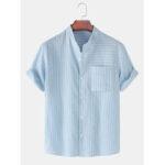 Оригинал              Хлопковые дышащие рубашки с карманами с короткими рукавами и карманом